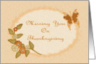 Missing You On Thanksgiving-Fall Foliage-Butterfly-Digital Design card