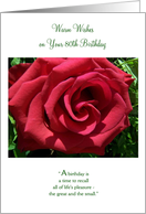 A 80th Birthday Card - Roses card