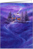 cozy inn winter nocturne card