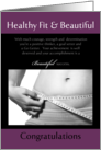 Congratulation on weight loss Beautiful success card