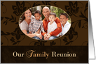 Victorian Our Family Reunion custom photo Invitation card