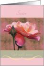 Sister Get well soon Roses card
