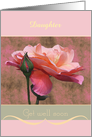 Get well soon Roses custom relationship/name card