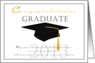Congratulations High school graduate 2013 card