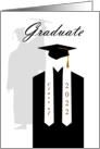 Cap and Gown Congratulations Graduate 2014 card