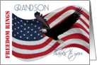 Freedom Rings Thanks to you Grandson Veterans Day card