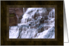 Waterfall cascades for Dad on Father's Day card