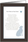 Paw Prints On Your Heart Loss of pet dog card