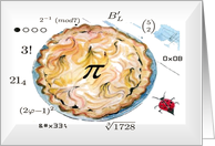 Geekery pie pi Math symbols Lady bug blank Card