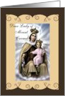 Catholic Our Lady of Mount Carmel with child Jesus card