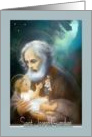 Saint Joseph Feast Day rare frameable image baby Jesus St.Joseph card