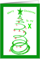 Christmas to ex-husband card