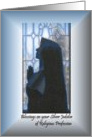 Religious Silver Jubilee nun Profession card