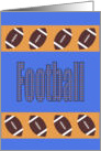 Orange and Blue Football Card