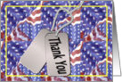Thank You Dogtags Flag card