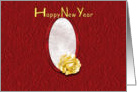 Happy New Year Rose card
