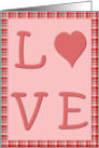 Love Plaid card