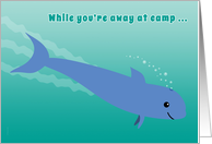 Away at Camp Porpoise Diving into the Ocean Fun Letter from Home card