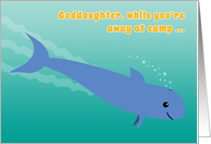 Goddaughter Away at Camp Porpoise Diving into the Ocean Fun card