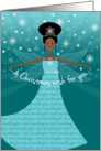Great Granddaughter Christmas Wish Fairy African American Black card