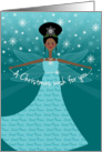 Great Niece Christmas Wish Fairy African American Ethnic Black card