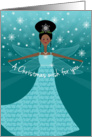 Stepdaughter Christmas Wish Fairy African American Ethnic Black card