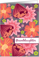 Granddaughter Engagement Congratulations Lesbian Bold Flowers LGBT card