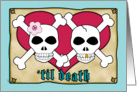 Wedding Invitations Pirate Skull Crossbones card