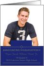 High School Graduation Announcements 2013 Photo Card Blue card