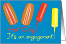 Engagement Party Invitation BBQ Barbeque Theme Hot Dogs card