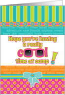 Summer Camp Thinking About You Fun Cool Colors and Sunglasses card