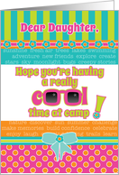Daughter Summer Camp Thinking About You Fun Cool Colors and Sunglasses card