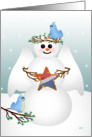 Christmas Patriotic Snow Angel with Star card