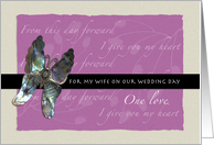 Butterfly Promises for Wife on Wedding Day (Verse Inside) card