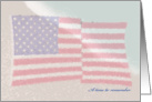 Memorial Day Flag on the Beach Sea to Shining Sea card