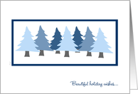 Ex-Husband Christmas Blue Forest Evergreen Trees card
