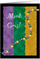 Happy Mardi Gras Card Purple Green and Gold card