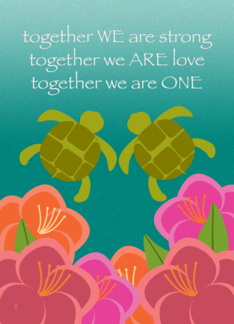 Casual Wedding Announcement Honu Sea Turtles Greeting Card