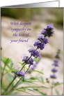 Loss of Friend Sympathy card
