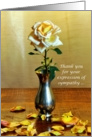 Yellow Rose and Petals Thank You For Your Expression of Sympathy Card