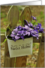Home Sweet Home Change of Address Flower Basket Card