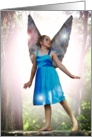 The Little Blue Fairy (Blank Note Card) card