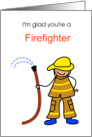 Happy Birthday, Firefighter, Man or Woman, Humor card