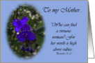 Mother&rsquo;s Day...Proverbs 31:1 card