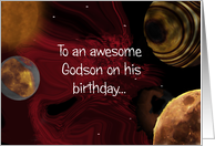Godson Space birthday card