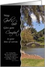 Comfort in sorrow - Inspirational Japanese Garden card