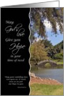 Hope in time of need - - Inspirational Japanese Garden card