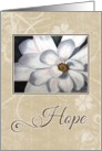 Brown Hope for Cancer card