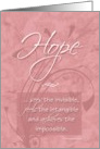Hope - Cancer Patient Encouragement card