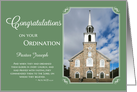 Congratulations - Add Your Church Photo and Pastor/Deacon's Name card
